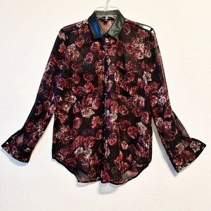 Rock and Republic Floral Blouse Medium